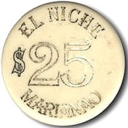 CUBA 1 FICHA DEL Casino El Niche Marianao $ 25 PESOS HABANA MARIANAO.