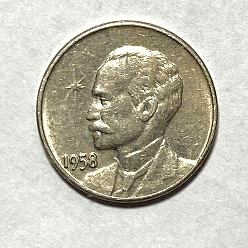 Cuba 1958 José marti 1  centavo