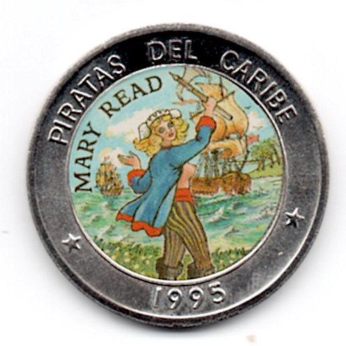 CUBA 1 PESO PIRATAS DEL CARIBE 1995 UNC MARY READ