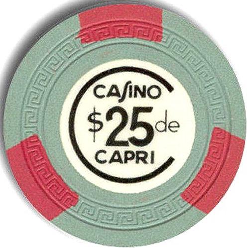 cuba 1950s ficha del Casino Capri habana Chip $ 25 pesos