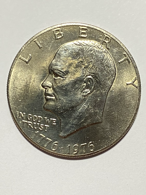 US. 1976-D EISENHOWER DOLLAR COIN SEE CONDITION ON PHOTO