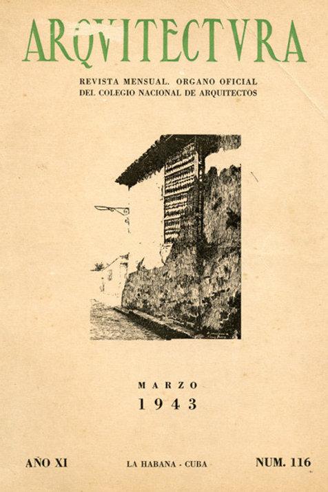 1943 Cuba Revista Arquitectura Cuban Architecture Magazine. Very Good Condition.