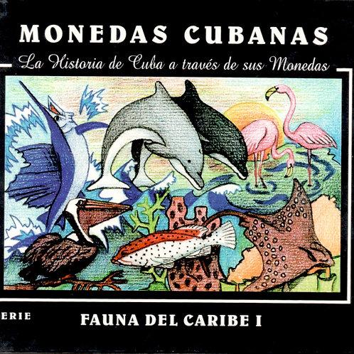 CUBA 1994 FAUNA DEL CARIBE 6 MONEDAS EN SU ESTUCHE UNC SERIE #1