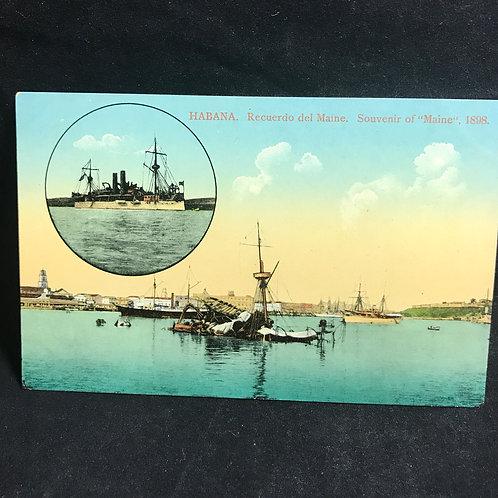 Habana postal Recordatorio del Maine