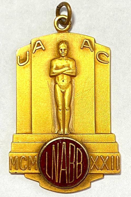 Cuban Art Deco Medal UAAC , Union Amateur Atletica de Cuba, 1940s.