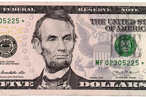 US. FIVE DOLLAR*star SERIES 2013 *****