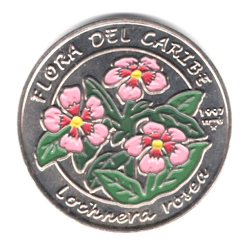 1 PESO 1997 CUBA 1 PESO FLORA DEL CARIBE UNCIRCULATED