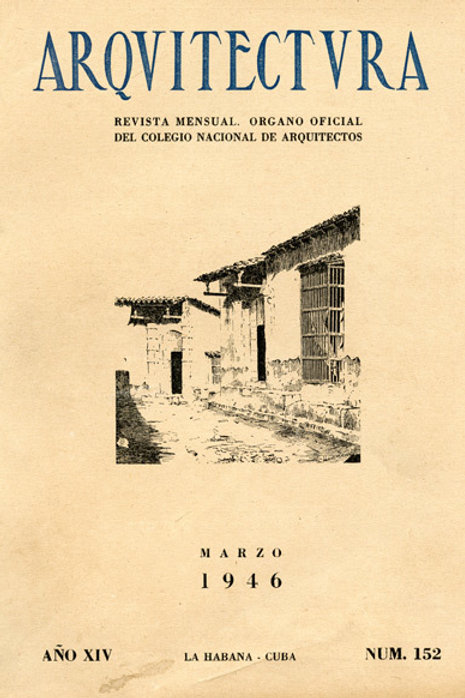 1946 CUBA REVISTA ARQUITECTURA MAGAZINE
