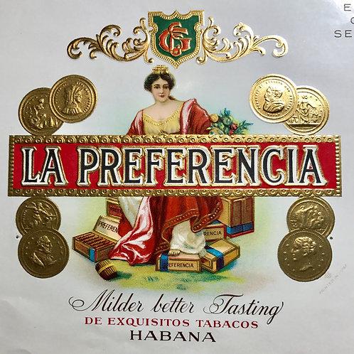 CUBA HABANA LA PREFERENCIA tabaco  Box label