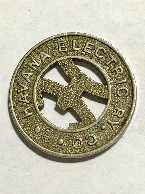 CUBA HABANA ELECTRIC RY. CO. VALE POR UN PASAGE SEE CONDITION ON PHOTO.