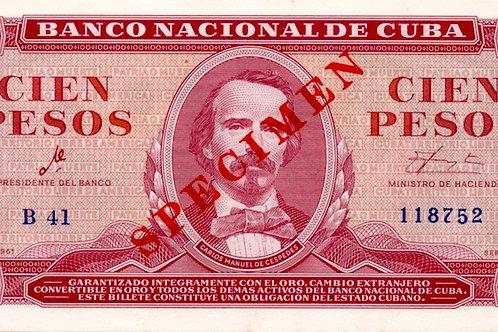 CUBA 1961 SPECIMEN FIRMA CHE UNC SUPER CONDICION ALTO GRADO ESCASO