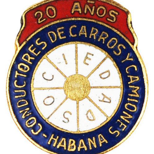 1950s CUBA CONDUCTORES DE CARROS Y CAMIONES PIN