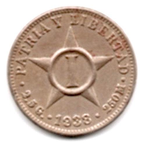 1938 CUBA 1 CENTAVO HIGH GRADE SCARCE RARE