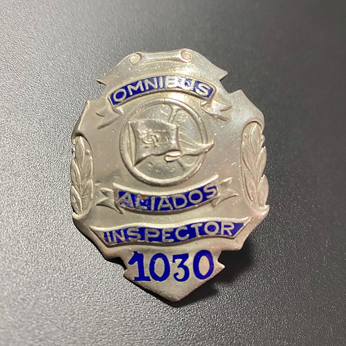 Cuba 1950 ÓMNIBUS ALIADOS INSPECTOR PIN # 1030