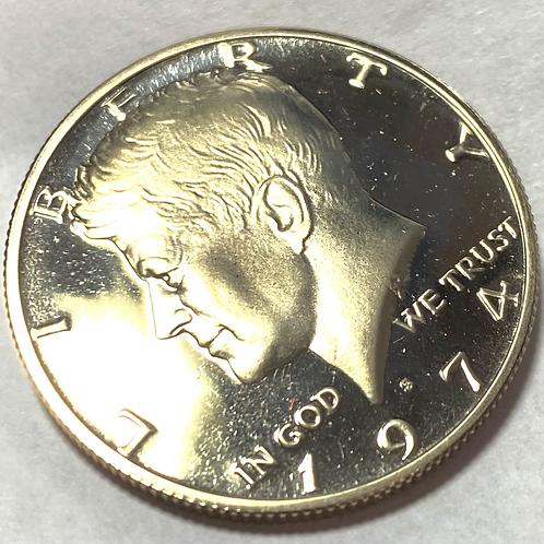 1974-S  Proof John F Kennedy Half Dollar