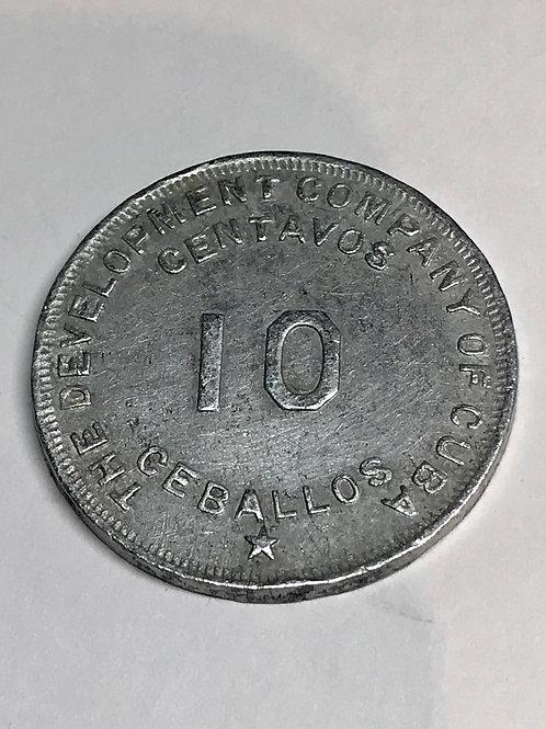 Cuba the chaparra Sugar co. Vale 10 Centavos Token.