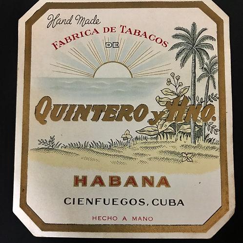 1950s CUBA CIENFUEGOS QUINTERO Y Hno. FABRICA DE TABACOS