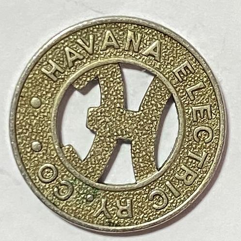 CUBA HAVANA ELECTRIC RY. CO. VALE POR UN PASAJE TRANVÍA 1930s