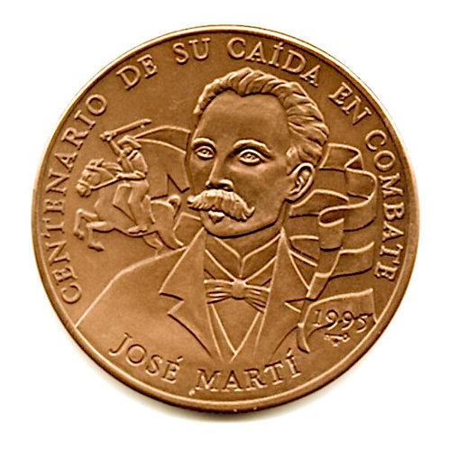 1 PESO 1995 JOSE MARTI CENTENARIO DE SU CAIDA EN COMBATE CUBA UNCIRCULATED