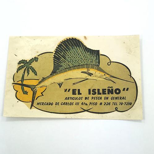 1950s CUBA EL ISLEÑO ARTÍCULOS DE PESCA EN GENERAL MERCADO DE CARLOS III 4to PIS