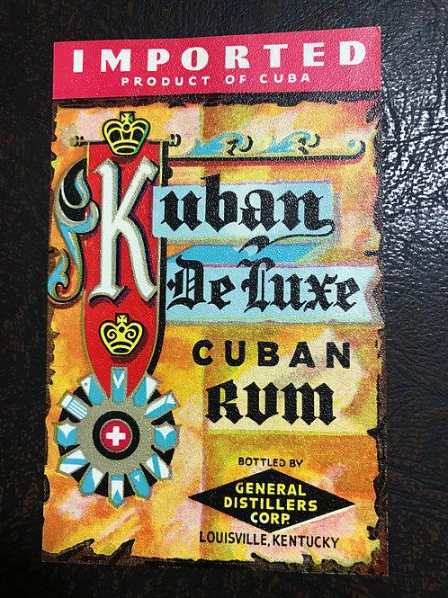 CUBA LABEL PAPER PRODUCT OF CUBA RUM DE LUXE LOUISVILLE,KENTUCKY