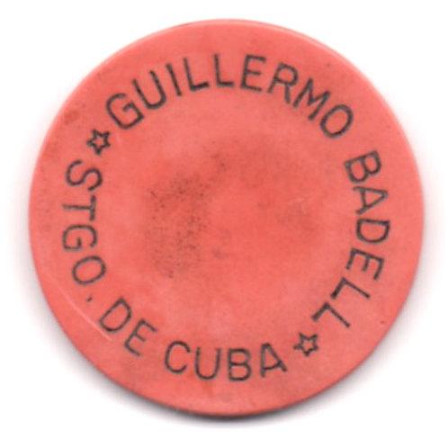 CUBA 1950s Casino Guillermo Badell Chip Santiago de Cuba $2 PESOS RARE SCARCE.