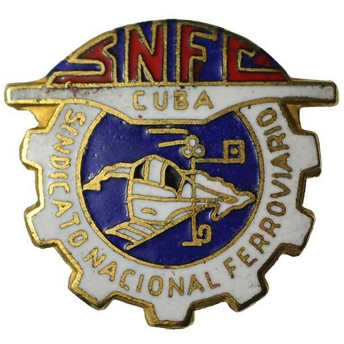 1950S CUBA NATIONAL RAILROAD SINDICATE LAPEL PIN
