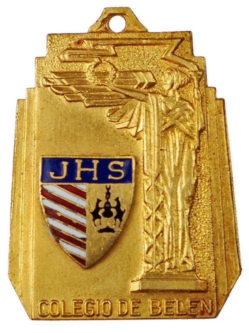 1950s period Cuba Colegio de Belen School Merit Medal. 1.3 x 1.5 inches . Very G