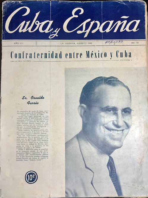 1948 HABANA CUBA REVISTA CUBA Y ESPAÑA # 83