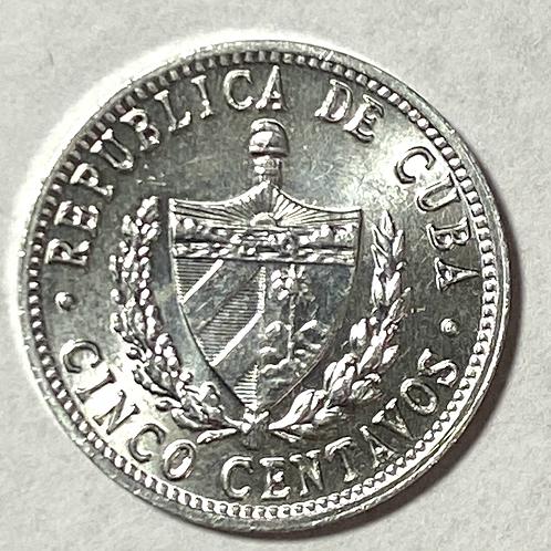 Cuba 5 centavos 1971 súper condition