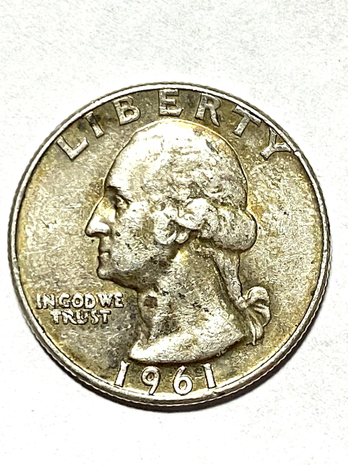Us 25 cents Dollar 1961 silver