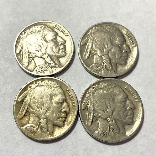 US. 5 CENTAVOS 1934-1935-1936-1937.#0022