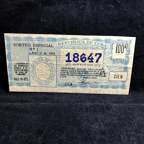 1943 loteria nacional republica de cuba