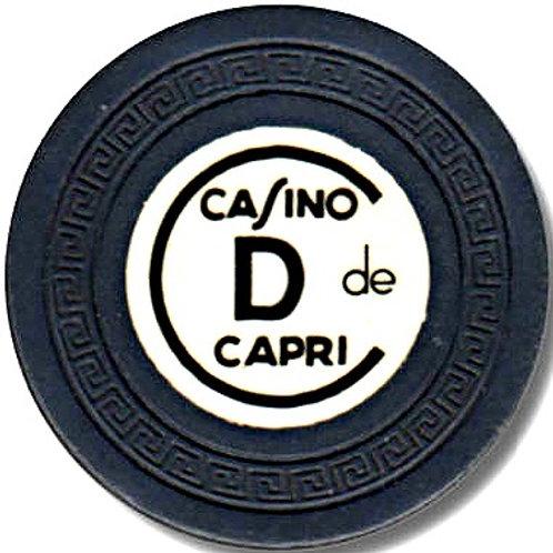 Cuba 1 ficha del casino capri en la ciudad de lahabana- D- Black