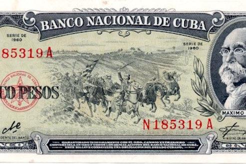 CUBA 5 PESOS 1960 FIRMA CHE.