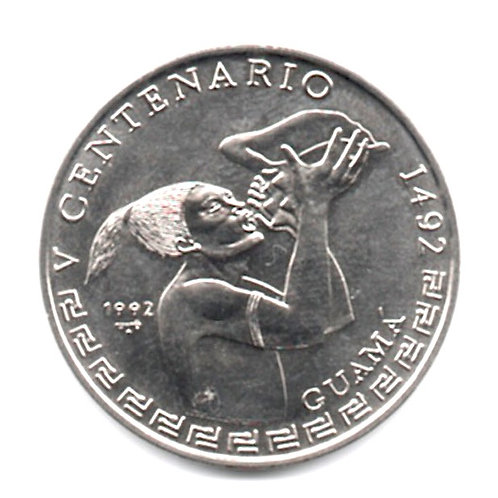 1 PESO 1992 V CENTENARIO DE GUAMA 1492 CUBA UNCIRCULATED