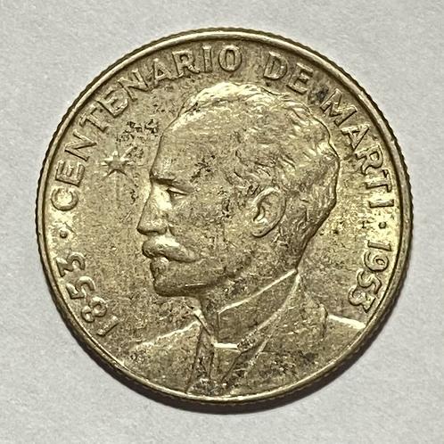 Cuba 25 centavos centenario de José marti cuba