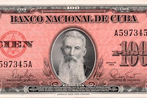 cuba 100 PESOS 1959 UNC