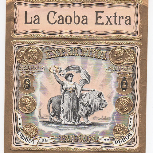 CUBA LA CAOBA EXTRA TABACOS LABEL SEE CONDITION ON PHOTO