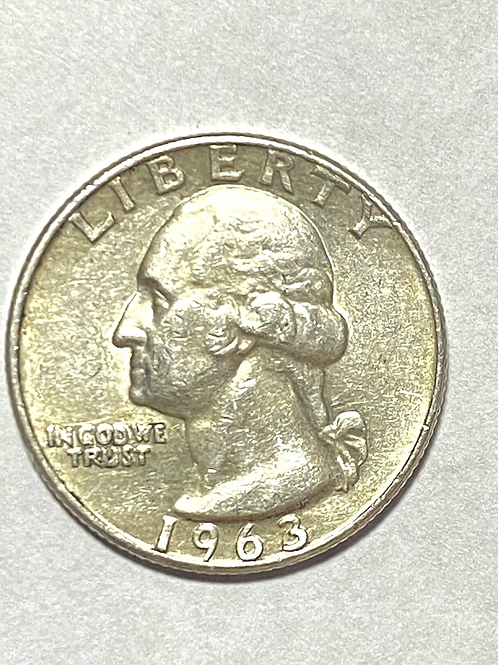 US. 25 cents dollar 1963 silver