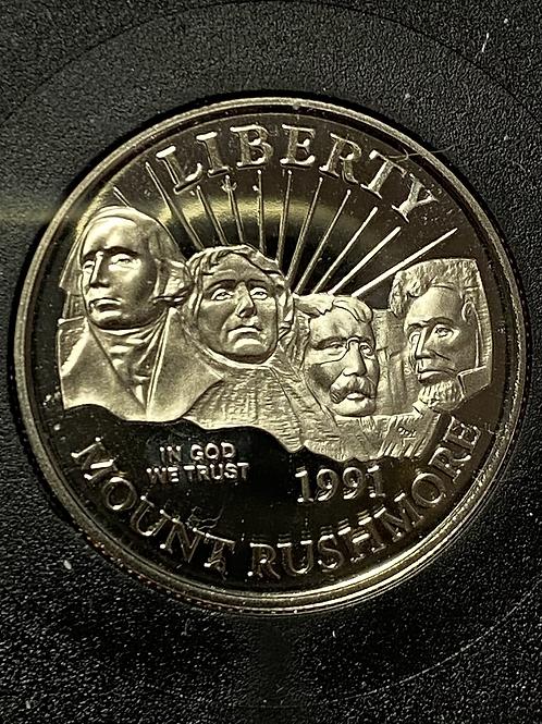 Half dollar  golden anniversary PROOF 1991 mount RUSHMORE