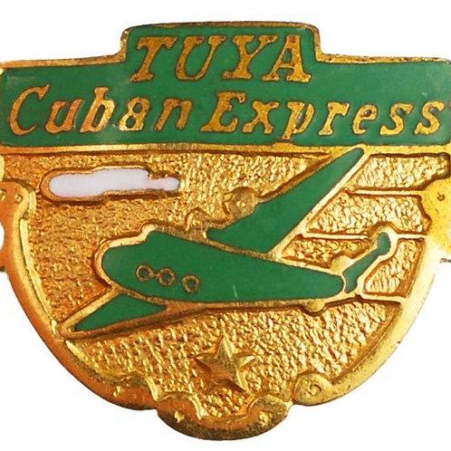 1950s CUBA  TUYA CUBAN AIR EXPRESS PILOT INSIGNIA PIN PRE CASTRO RARE AND SCARCE