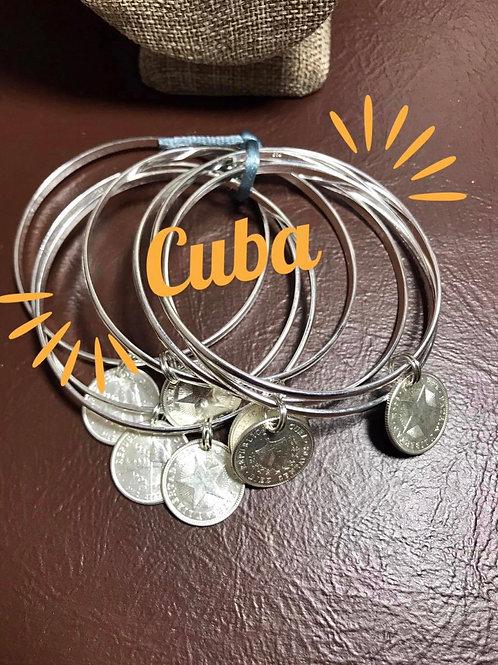 CUBA SEMANARIO DE MONEDAS ORIGINALES PRE CASTRO 7 realitos de plata moneda 1949.