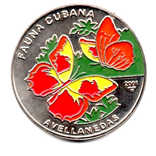 1 PESO 2001 FAUNA CUBANA AVELLANEDAS CUBA UNCIRCULATED