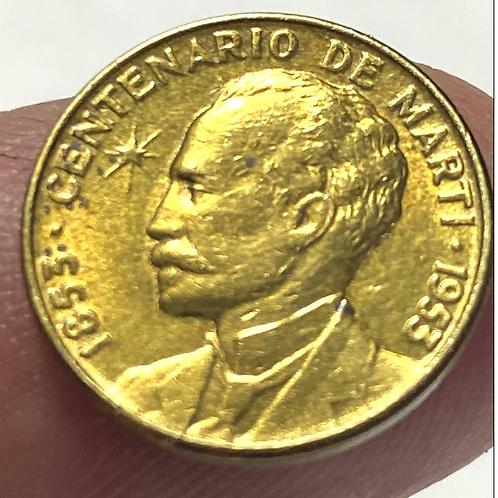 CUBA 1 CENTAVO 1953 CENTENARIO DE JOSÉ MARTI #0016