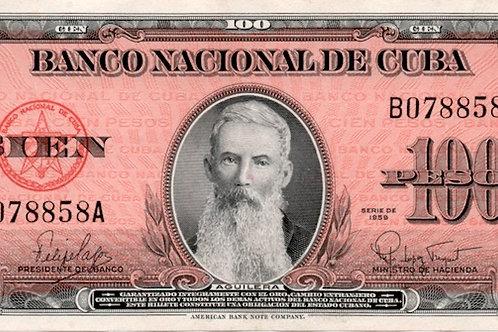 CUBA100 PESOS 1959 AGUILERA