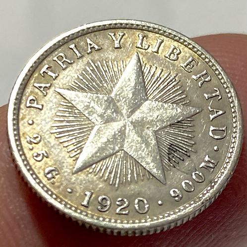 Cuba 10 centavos 1920 silver #0018