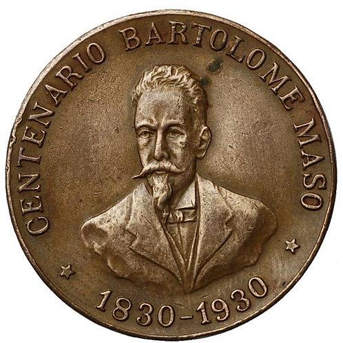 1930 CUBA GENERAL BARTOLOME MASO CENTENNIAL MEDAL