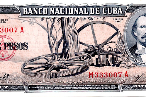 CUBA 10 PESOS 1960 # RARO FIRMA CHE CARLOS MANUEL DE CESPEDES