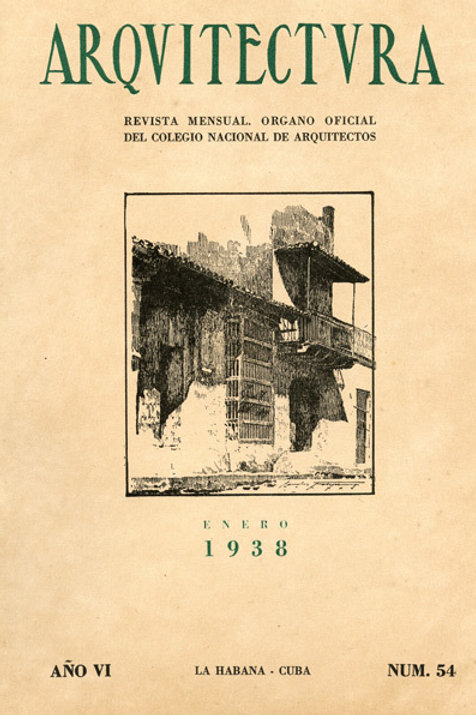 1938 Cuba Revista Arquitectura Cuban Architecture Magazine. Very Good Condition.